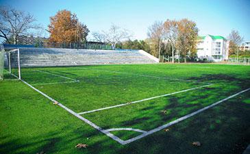Футбольное поле в детском лагере им. Ю. А. Гагарина, Евпатория